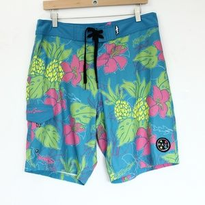 Maui and Sons Swim Trunks Board Shorts sz 32 Mens